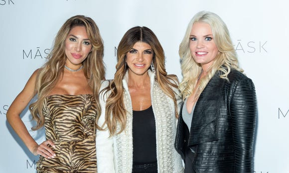 Farrah Abraham, Teresa Giudice and Ashley Martson attend the MASK launch party in New York.