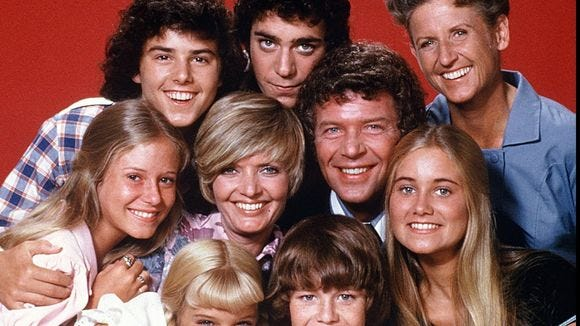 "Maureen McCormick (bottom right), who played Marcia on ""The Brady Bunch,"" is furious her image was used to promote an anti-vaxxer massage."