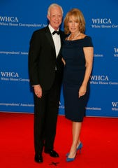 "Famed pilot Chesley ""Sully"" Sullenberger and his wife Lorrie Sullenberger attend the 2019 White House Correspondents' Dinner at the Washington Hilton on April 27, 2019."
