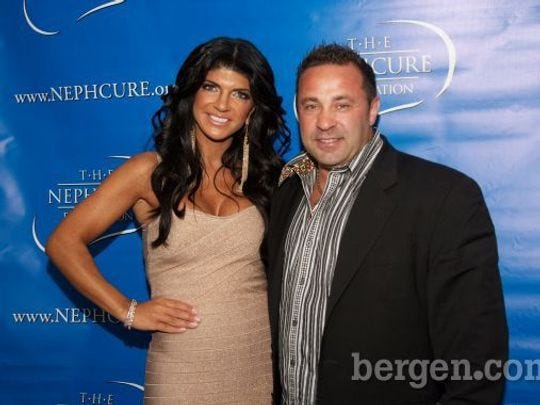 Teresa and Joe Giudice in happier times.