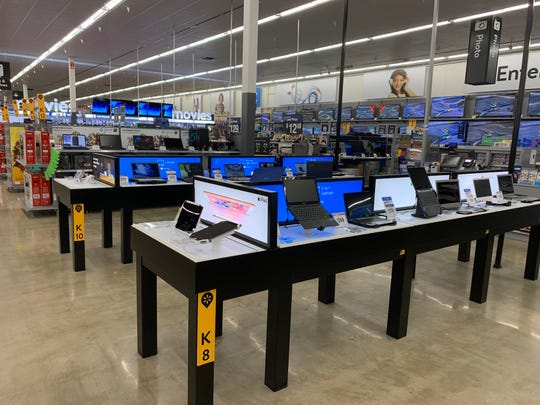 The electronics department at Walmart in Brick was recently renovated.