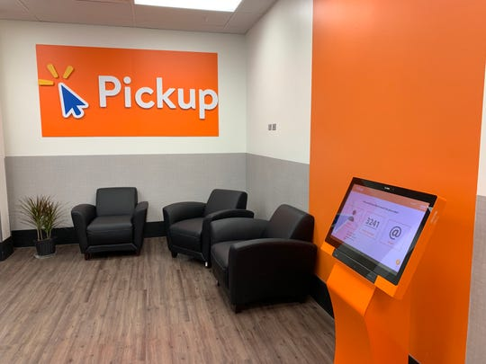 Walmart recently added a Pickup area to its store in Brick.