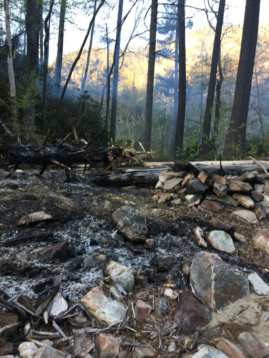 The Brushy Ridge wildfire is believed to have been started by an abandoned campfire April 28 in the Linville Gorge Wilderness of Pisgah National Forest.