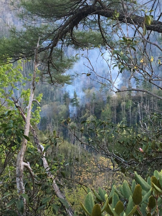Firefighters are battling the Brushy Creek wildfire, which started April 28 in the Linville Gorge Wilderness.