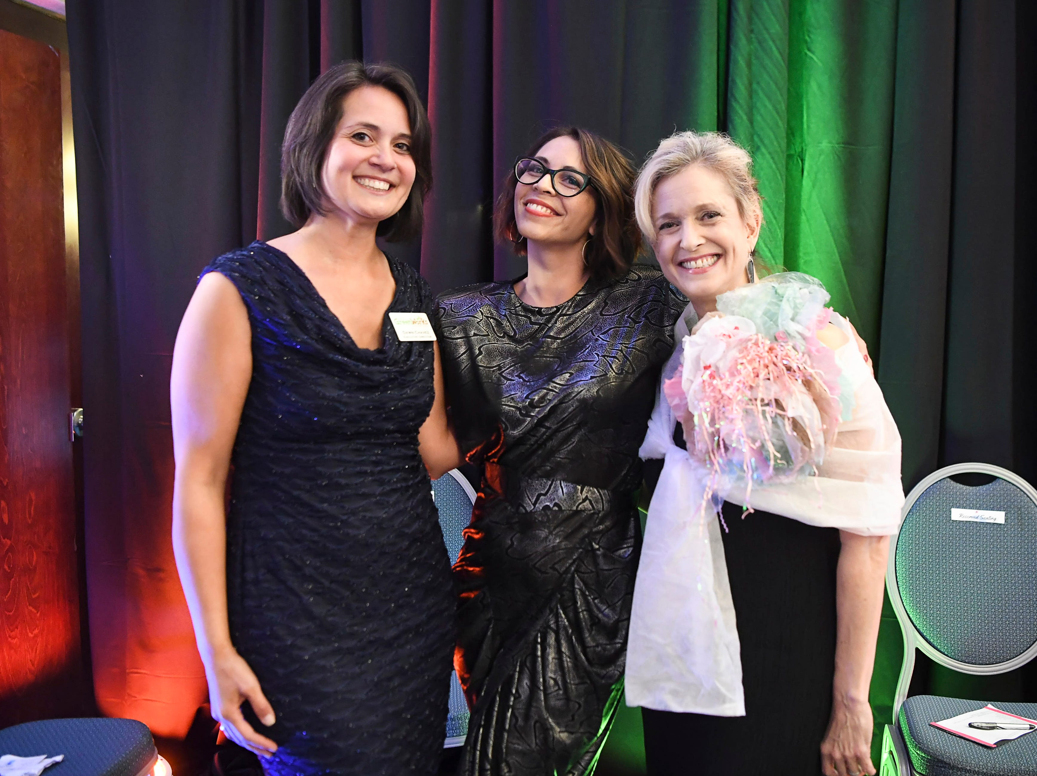 Asheville GreenWorks hosted a recycled fashion show and presented environmental excellence awards at the Doubletree in Asheville April 27, 2019.