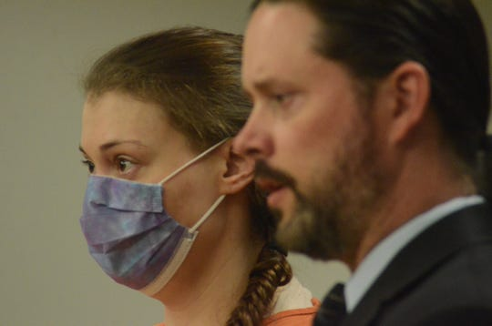 Talia Furman with her attorney Justin McCarthy was sentenced to at least 25 years in prison for child rape.