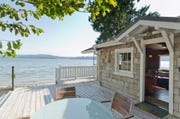 A home on the Hood Canal listed for short-term rental on the website vrbo.com.