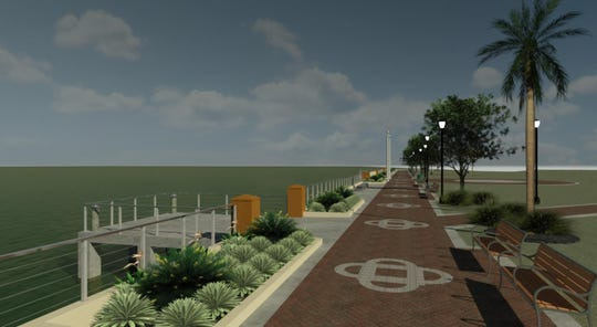 This artist's rendering depicts the upgraded Cocoa Village waterfront.