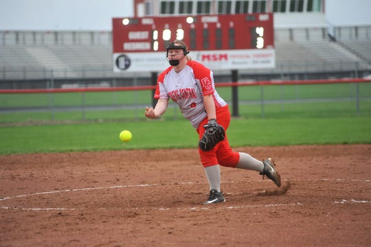 Senior Grace Omlor will balance left field and pitching this season for the Buckettes.