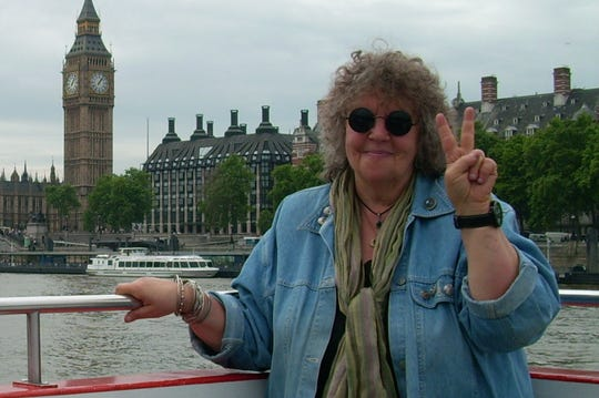 Free Press correspondent Susan Green, seen here on the Thames River during a trip in June 2009 to London.