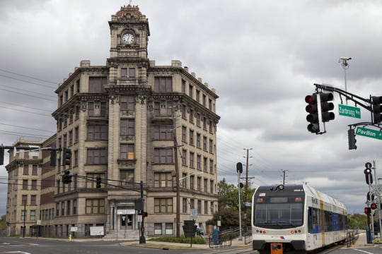 Long-awaited redevelopment of the vacant Watch Case  building on North Pavilion Avenue in RIverside into luxury apartments began this month after burglars store cell communication wiring from inside this national landmark along the NJ Transit RiverLine light rail.
