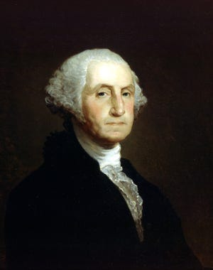 George Washington portrait, featured on the one-dollar bill.