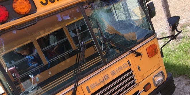 Students from Blanchester Middle School their school bus crashed head-on into a turkey.