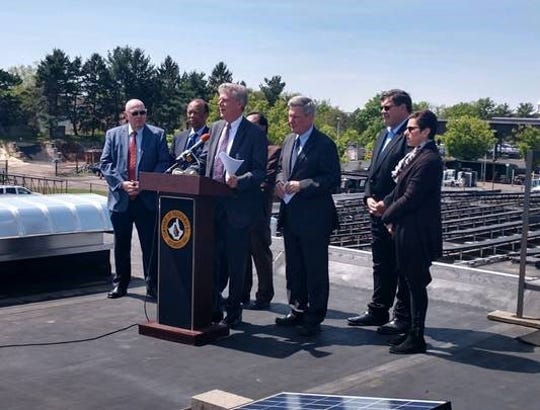U.S. Rep. Frank Pallone, Jr., state Sen. Bob Smith, and Piscataway Mayor Brian Wahler touted the need to pass legislation to authorize funding for state and local energy efficiency and conservation programs to help reduce the effects of climate change in New Jersey.
