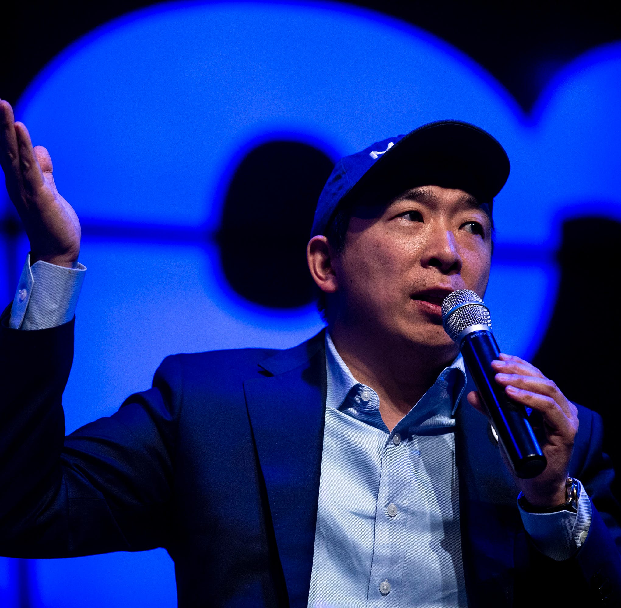 Presidential candidate Andrew Yang wants to give Americans $1,000 per month