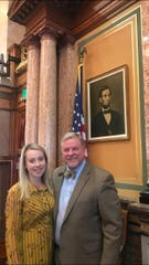 """I have been fortunate beyond words to have had Alexandra Cleverley as my clerk this session,"" state Rep. Scott Ourth said. ""Alex is bright, intuitive, creative, and reliable.  Her work ethic is beyond reproach. She arrives at work each day with a bright smile and a cheerful 'hello.'"""