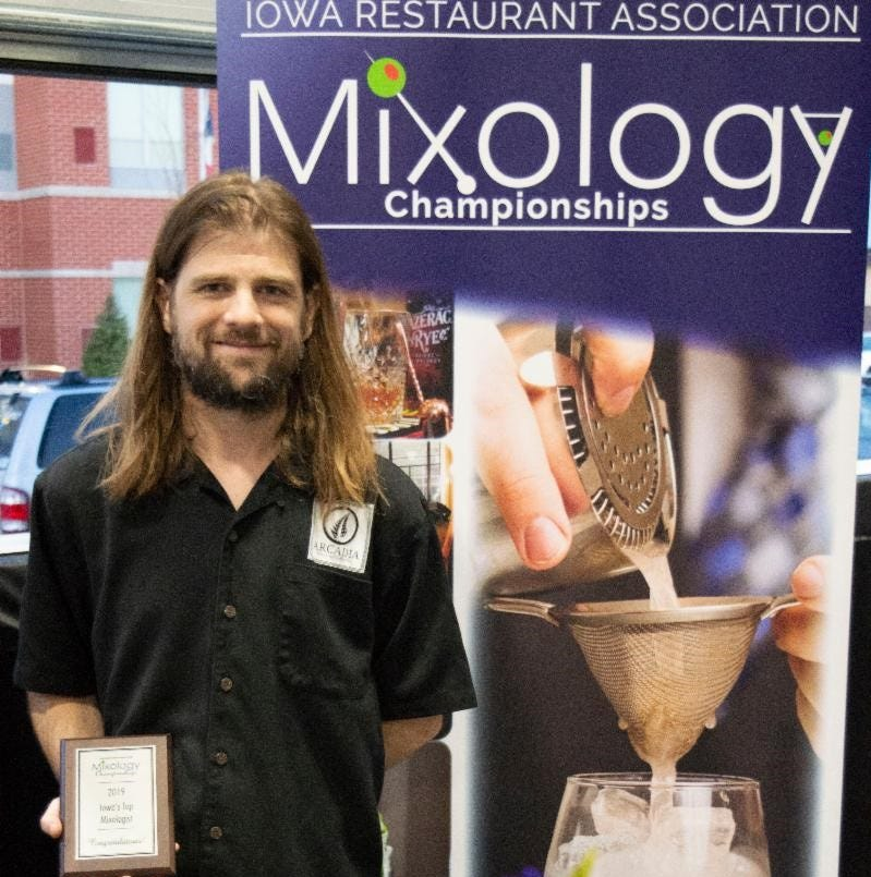 Bartender from Ames' Arcadia Cafe named this year's champion mixologist in Iowa