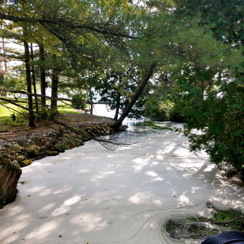 Michigan health officials warn: Don't touch PFAS foam