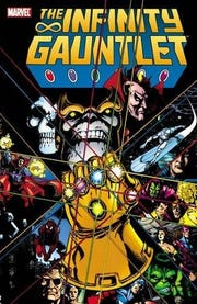 """The Infinity Gauntlet"" written by Jim Starlin for Marvel Comics."