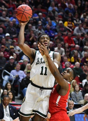 Michigan State forward Aaron Henry started 22 games as a freshman, averaging 6.1 points and 3.8 rebounds, and was a solid defender as the Spartans won the Big Ten regular-season and tournament titles and reached the Final Four.