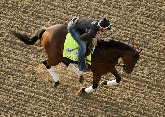 Kentucky Derby favorite Omaha Beach was scratched due Wednesday to a breathing problem.
