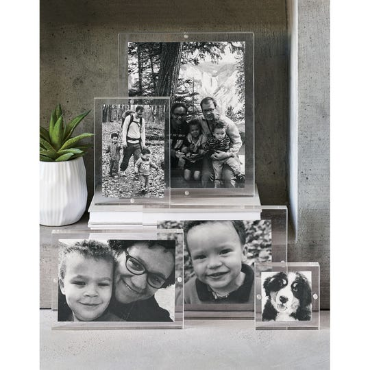 Acrylic Block Picture Frames from Crate and Barrel.