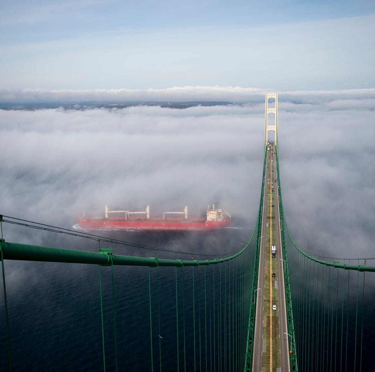 The best view in Michigan: Ascending the towers of the Mackinac Bridge