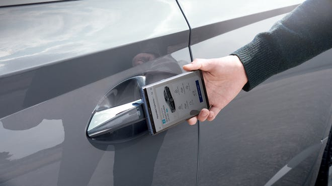The Hyundai digital key system allows a smartphone to replace the key fob.