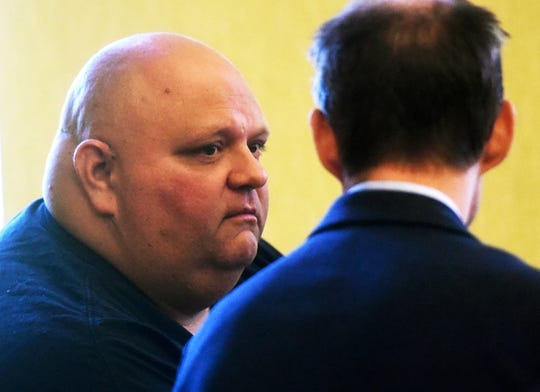 Michael Middleton pleads guilty in Strafford County Superior Court in Dover, N.H., to the charge of bigamy in New Hampshire, Monday, April 29, 2019.