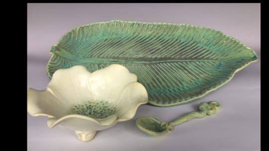 The spring sale includes many types of pottery selections.