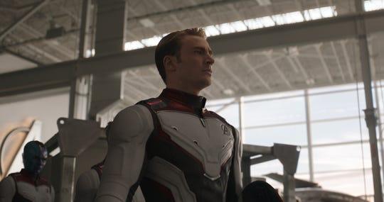 """Chris Evans and Karen Gillan in """"Avengers: Endgame"""""""