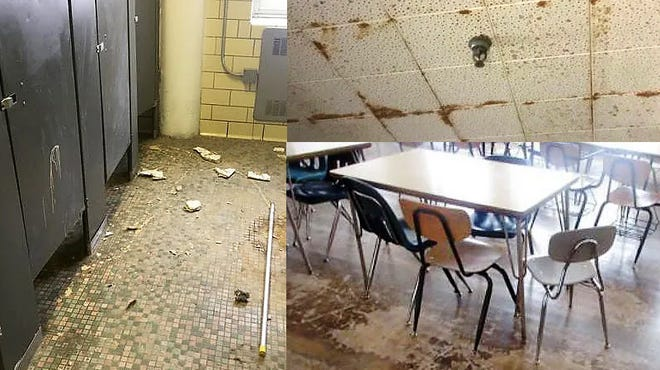Detroit's public school district can't collect a single penny of taxes to address nearly $543 million in needed repairs.