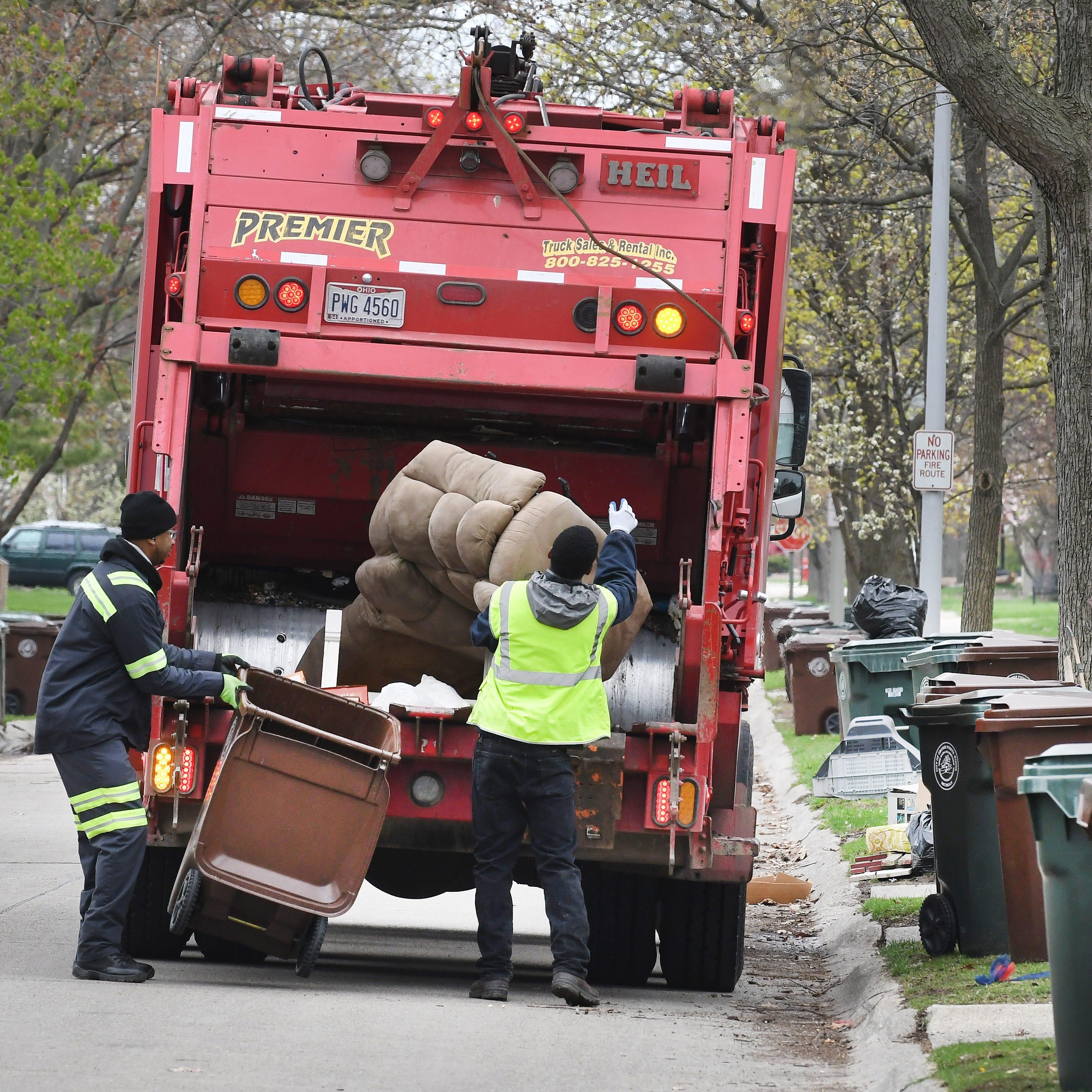 Incinerator's demise delays Detroit area trash pickup