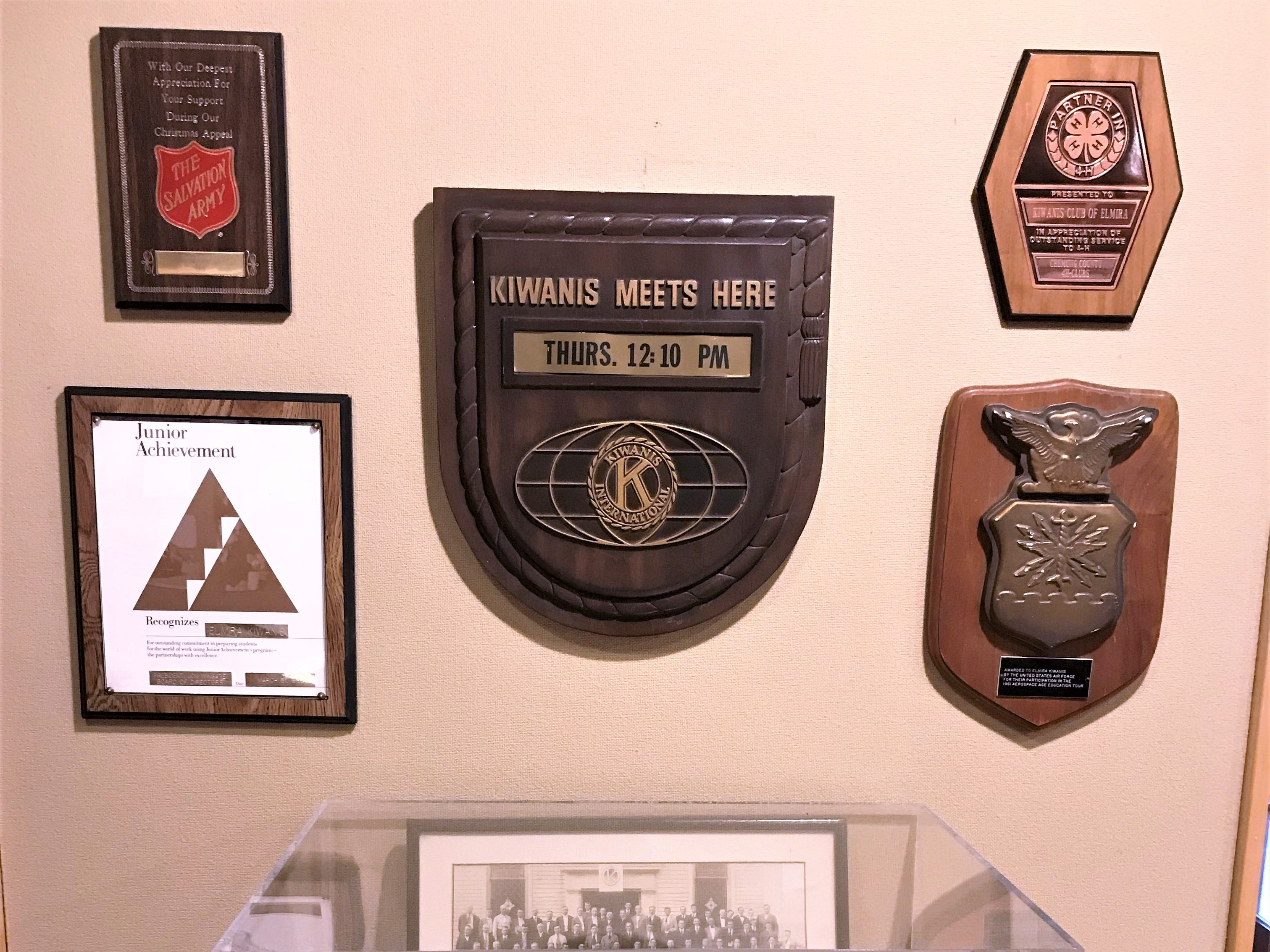 The Elmira Kiwanis Club has an exhibit of photos and other items on display at the Chemung Valley History Museum to celebrate its centennial.