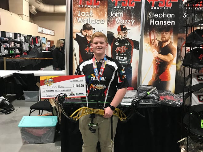 Brady Buss of Fond du Lac recently won first place at The Vegas Shoot in the Compound Young Adult Male division.