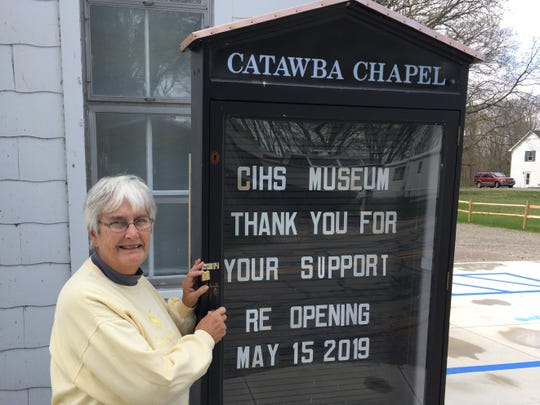 Curator Connie Batterton prepares for opening the Catawba Museum at Union Chapel