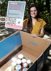 North Fort Myers High School senior and Cape Coral resident Sarah Cabrera is trying to get 18,000 pounds of canned goods donated for her 18th birthday. The food will be donated to the Harry Chapin Food Bank. She is dual enrolled at Florida Southwestern State College. She plans on attending Florida Gulf Coast University. She has drop off areas throughout Southwest Florida including the college and at the two Starbucks in Cape Coral.