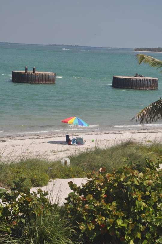 The panoramic view from the second story balcony of the beach and back bays of Boca Grande.