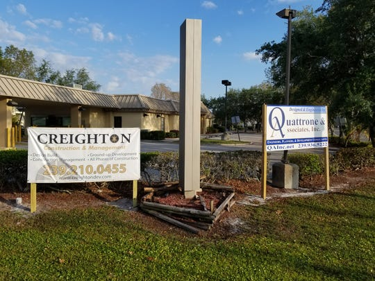 Signs for the construction and engineering companies are already erected at the Winkler Road and Cypress Lake intersection in south Fort Myers.  Neighbors don't like the idea of having the signs up before the project, which they oppose, is even approved.