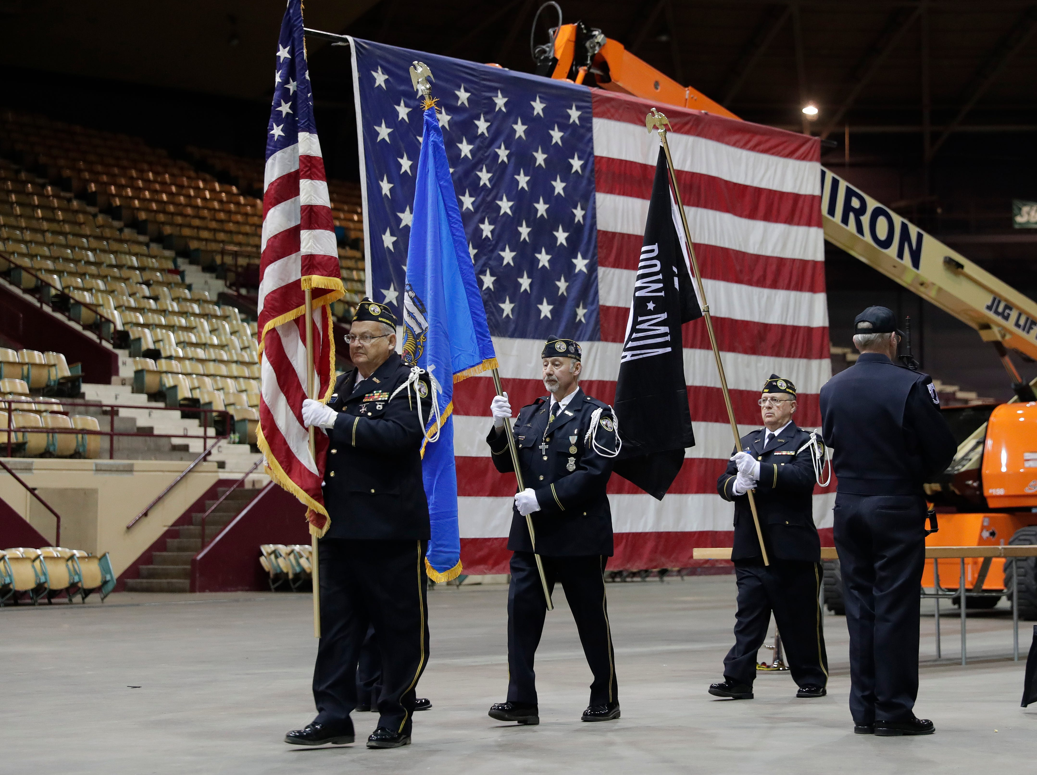 A farewell ceremony was held April 29, 2019 inside the Brown County Veterans Memorial Arena before demolition of the building begins.