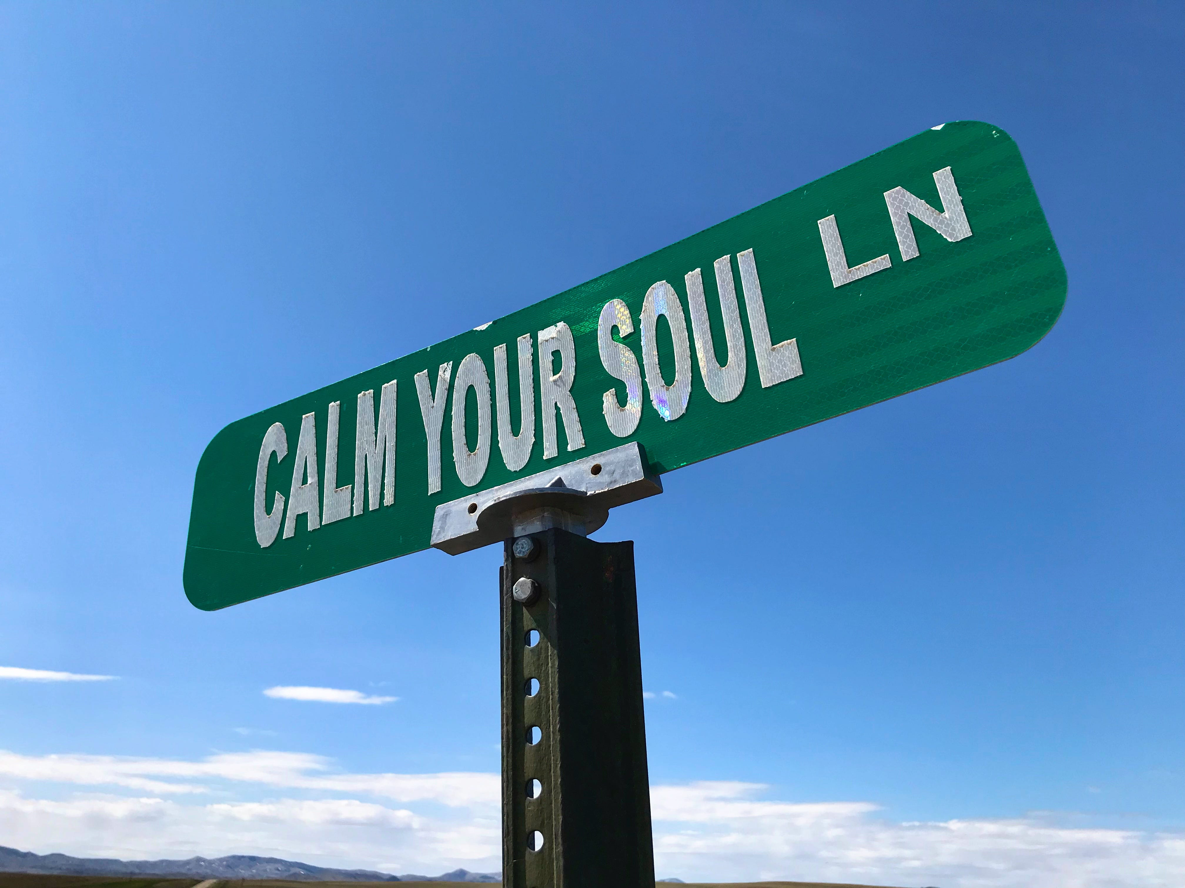 Calm Your Soul Lane is south of Chinook