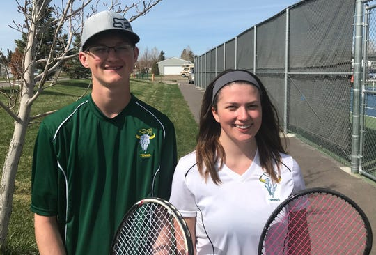 C.M. Russell seniors Shane Kujala and Ally Dube are looking forward to Thursday's Crosstown tennis dual with Great Falls High.