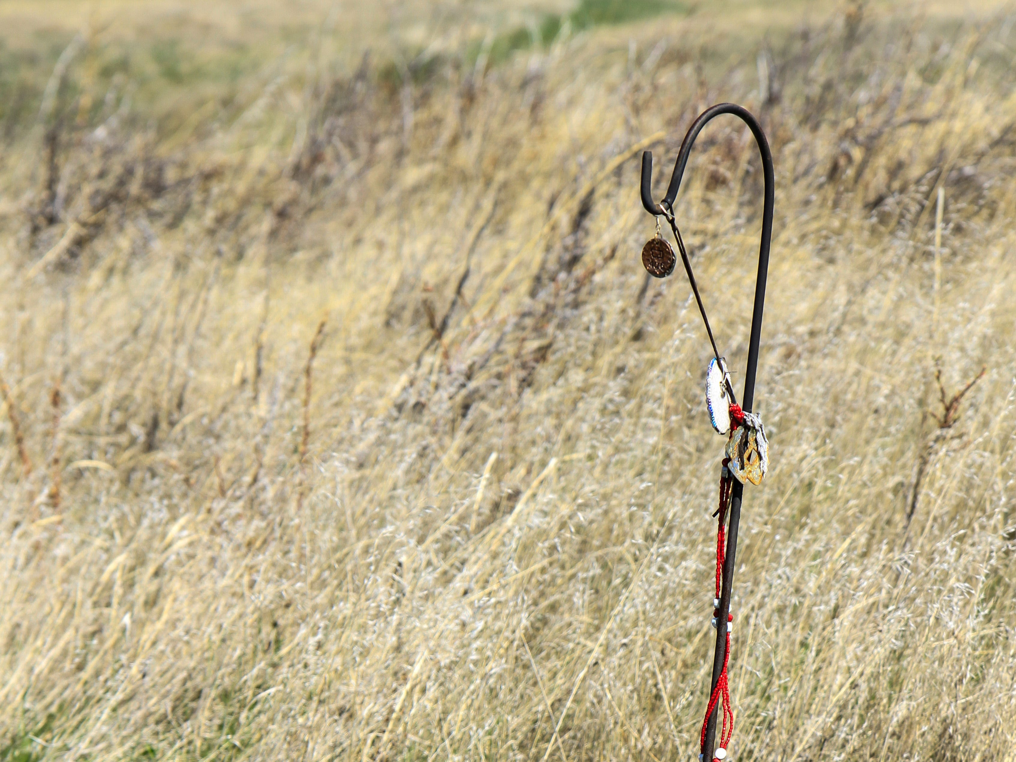 Nez Perce offerings from their ancestors are left along the Bear Paw Battlefield.