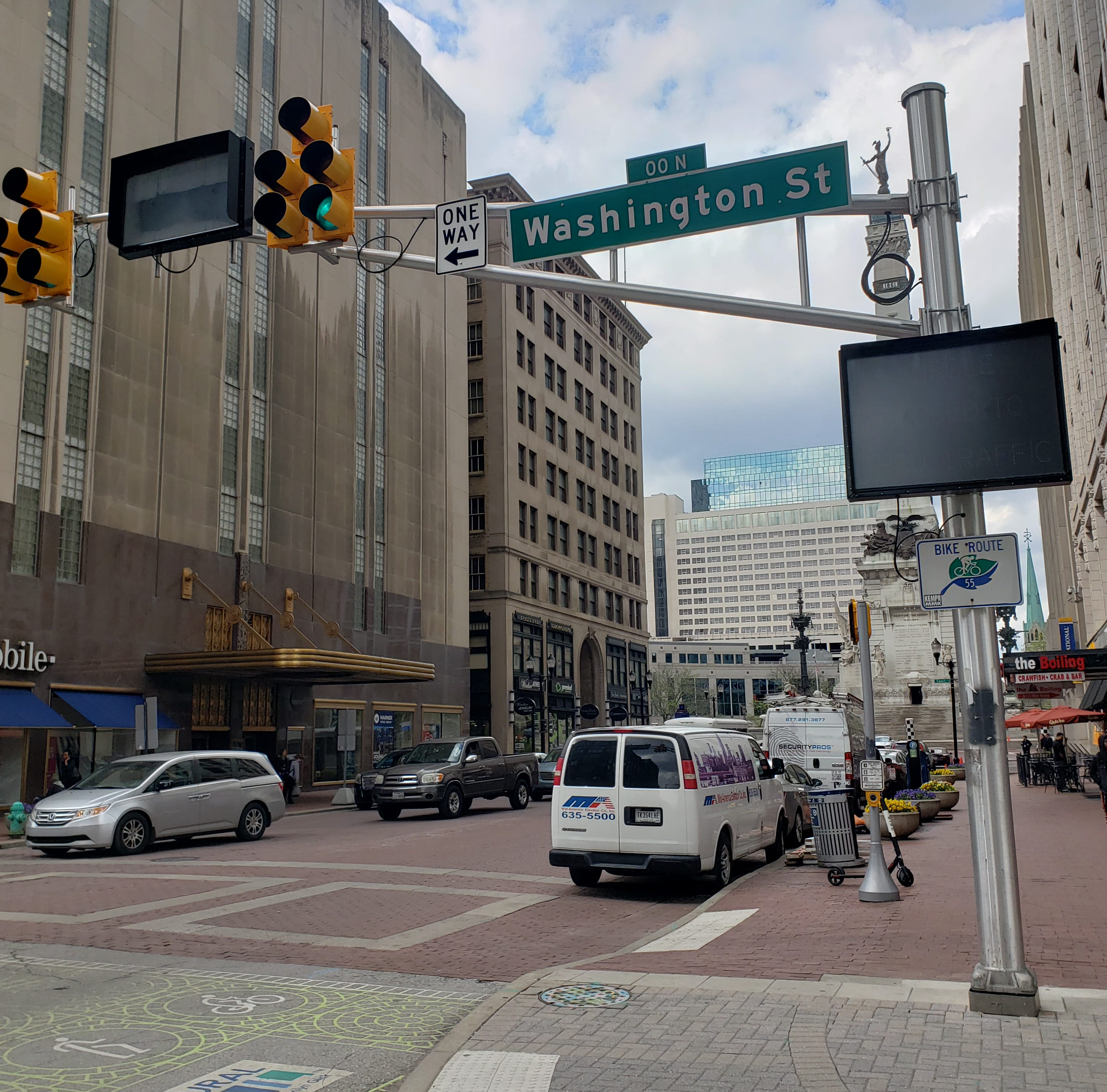 Here's why there are new digital signs in Downtown Indianapolis
