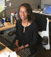 Warren Central track coach Le'Gretta Smith in her office at the NCAA.