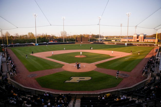 FILE: Purdue baseball during a NCAA baseball game, Friday, April 26, 2019 at Alexander Field in West Lafayette.