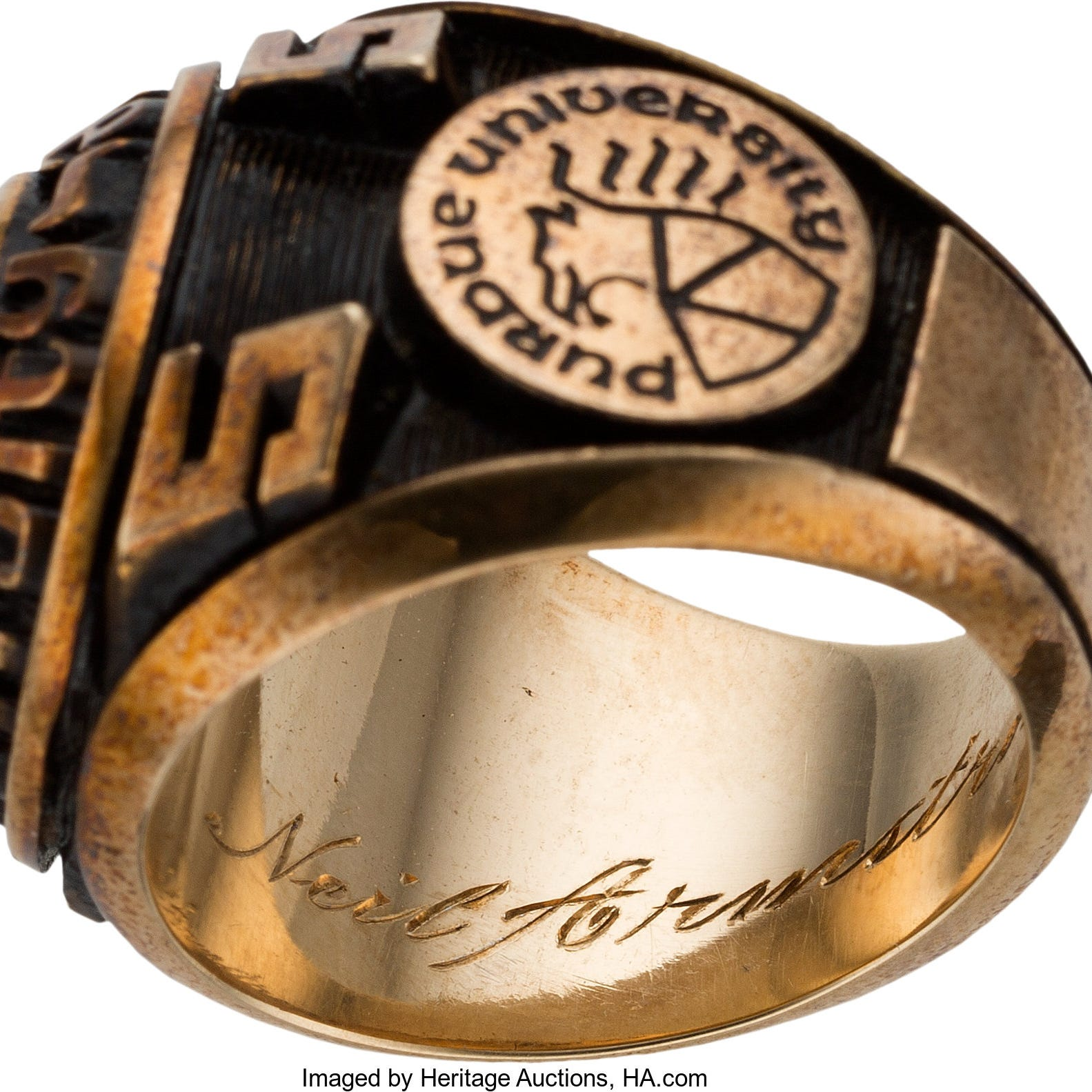 Neil Armstrong's Purdue class ring could be yours. Starting bid: $12,500