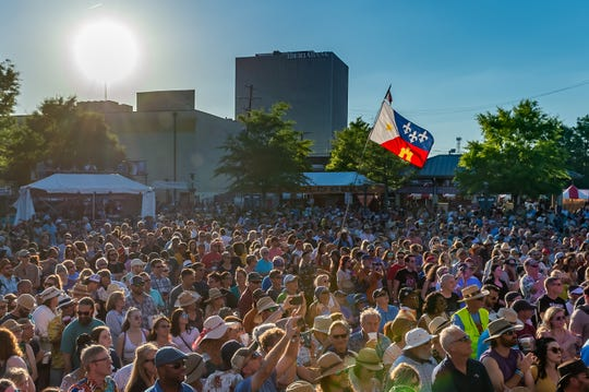 Robert Randolph and The Family Band with special guest Lane Mack close out Festival International de Louisiane. Sunday, April 28, 2019.