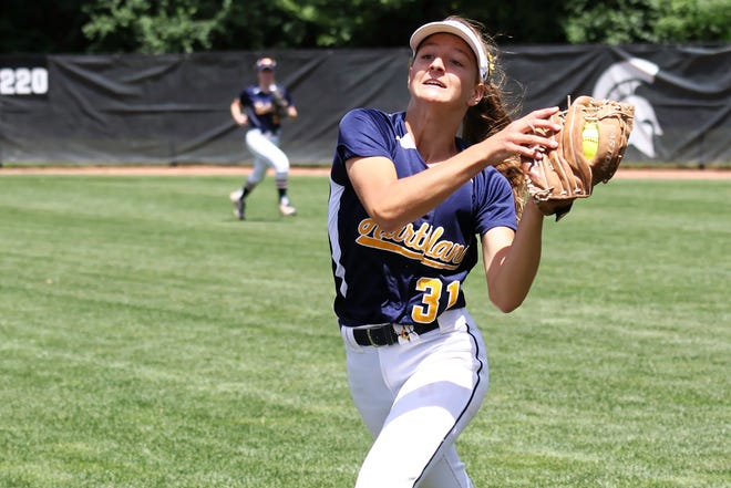 Hartland's Kelsey Zampa hit two home runs and pitched a three-inning no-hitter in a sweep of Wayne Memorial.