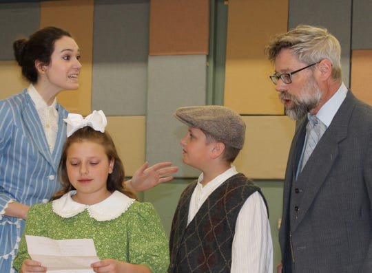 "The Banks family in The Masquers' production of ""Mary Poppins."""
